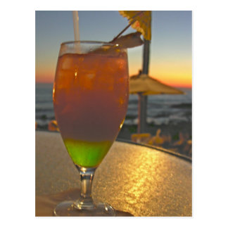 Mai Tai Sunset Postcard