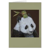 Mai the panda greeting card