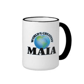 Maia más grande del mundo taza de café