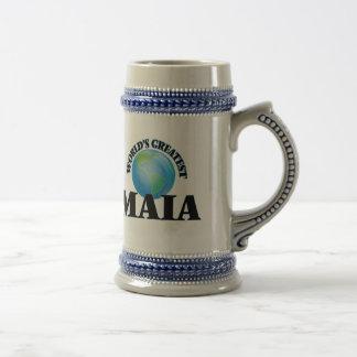 Maia más grande del mundo tazas de café