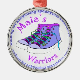 Maia's Warriors Metal Ornament