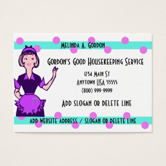 Maid And Cleaning Service Business Cards