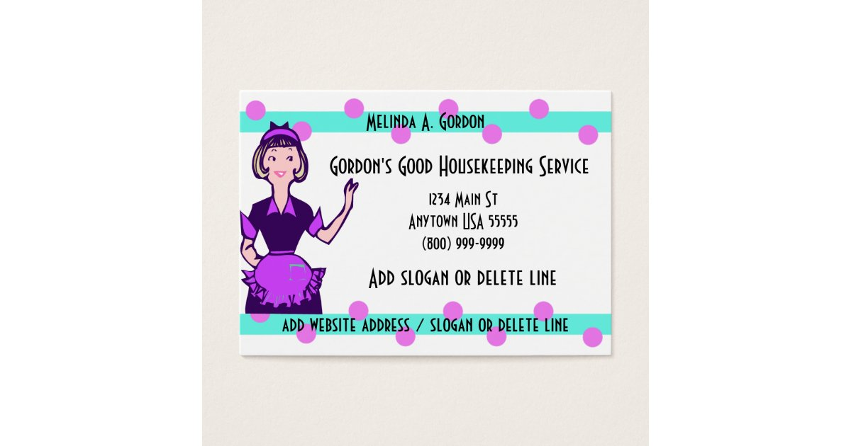 Maid And Cleaning Service Business Cards | Zazzle.com
