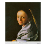 Maid by Johannes Vermeer Poster