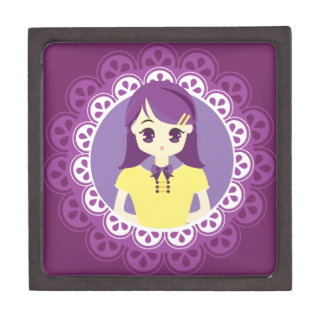 [Maid Café Series] Pastel Purple Maid #04 Premium Keepsake Boxes