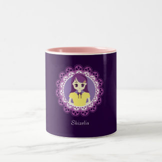 [Maid Café Series] Pastel Purple Maid #04 Two-Tone Coffee Mug