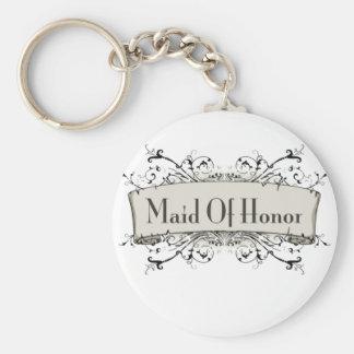 Maid del honor llaveros