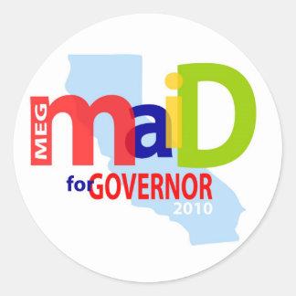 Maid for Governor Sticker