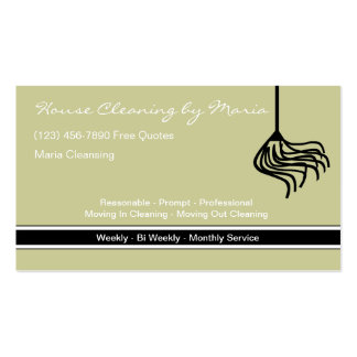 Maid Housekeeper Business Cards