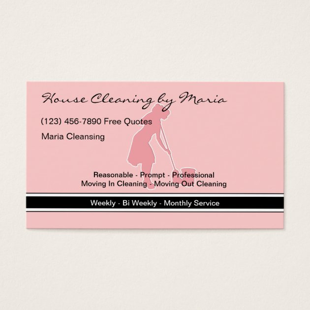 Housekeeper business cards selol ink housekeeper business cards colourmoves