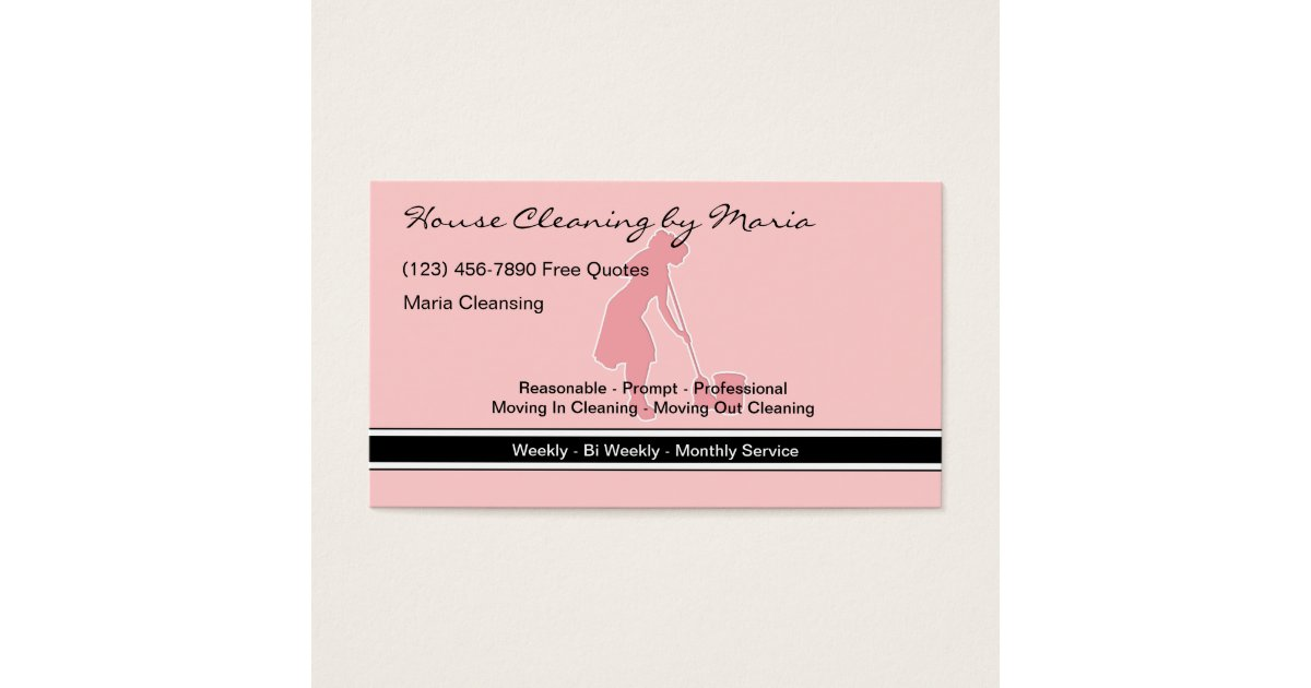 Maid Housekeeper Business Cards | Zazzle.com