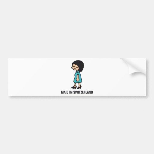 maid in… car bumper sticker