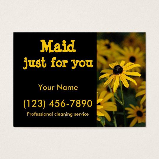 Maid just for you business card