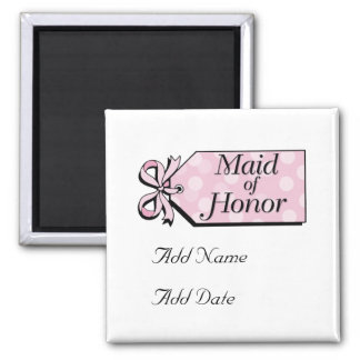 Maid of Honor 2 Inch Square Magnet