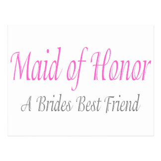 Maid Of Honor (A Brides Best Friend) Postcards