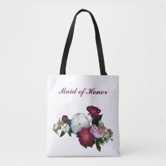 Maid of Honor Antique Roses Wedding Tote Bag