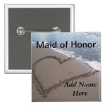 Maid Of Honor Beach Wedding Button