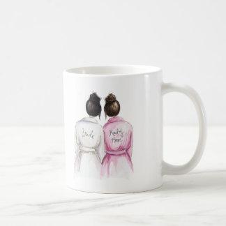 Maid of Honor? Black Bun Bride Dk Br Maid Classic White Coffee Mug