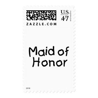 Maid Of Honor (Blk) Postage