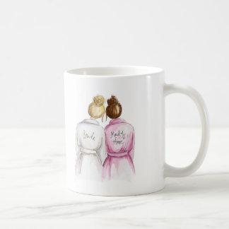 Maid of Honor? Blonde Bun Bride Auburn Maid Classic White Coffee Mug