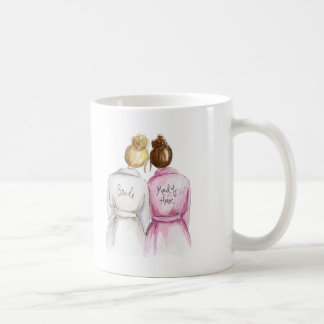Maid of Honor? Blonde Bun Bride Auburn Maid Coffee Mug
