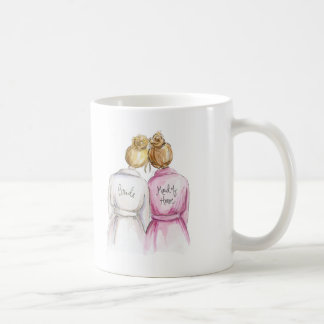 Maid of Honor? Blonde Bun Bride Dk Bl Bun Maid Coffee Mug