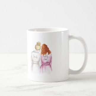 Maid of Honor? Blonde Bun Bride Red Curls Maid Coffee Mug