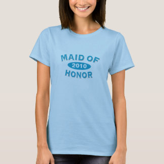 Maid of Honor Blue Arc 2010 T-Shirt