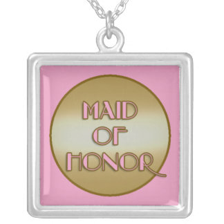 MAID OF HONOR Bridal Party Necklace