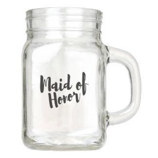Maid of Honor Bridal Party Wedding Mason Jar