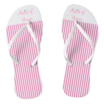 Beach Themed Maid of Honor, Bridal,Wedding, Pink Cute Flip Flops