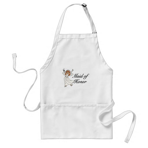 Maid Of Honor Bride Adult Apron