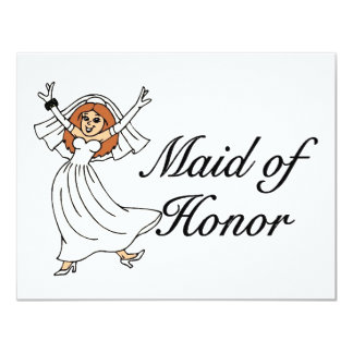 Maid Of Honor (Bride) Card
