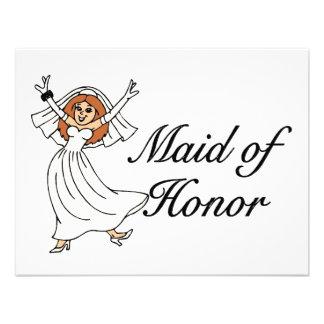 Maid Of Honor Bride Personalized Invite