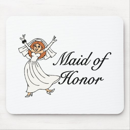 Maid Of Honor Bride Mouse Pads