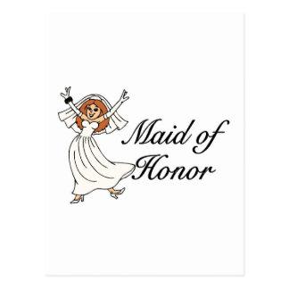 Maid Of Honor Bride Postcard