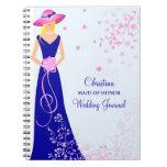 Maid of Honor Bridesmaid Custom Journal Notebook