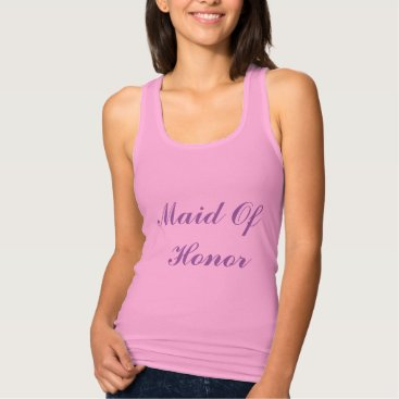 Beach Themed Maid Of Honor Bridesmaid Lilac Purple Weddings Tank Top