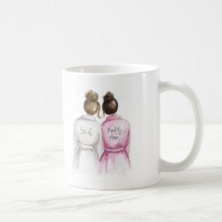 Maid of Honor? Brunette Bun Bride Dk Br Bun Maid Classic White Coffee Mug