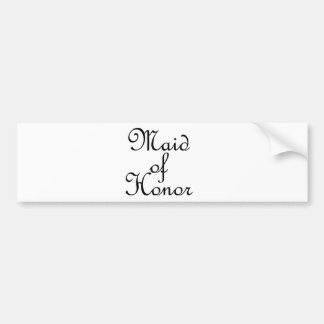 Maid of Honor Bumper Stickers
