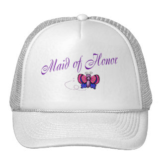 Maid Of Honor Butterfly Trucker Hat