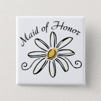 Maid of Honor Button