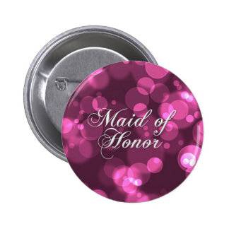 Maid of Honor Button [Pink Bokeh]