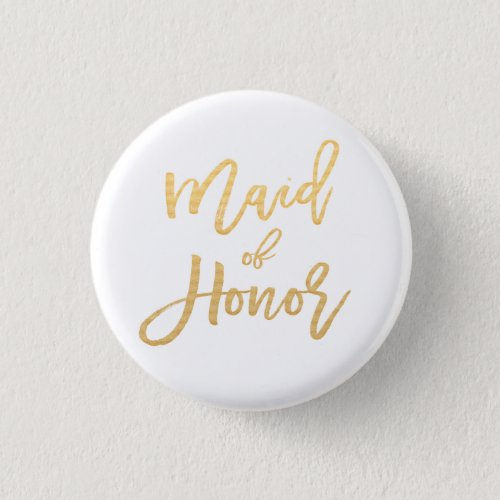 maid of honor calligraphy button
