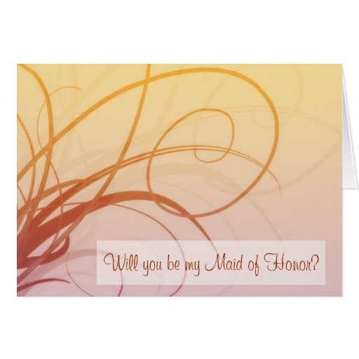 Maid of Honor card (amber)