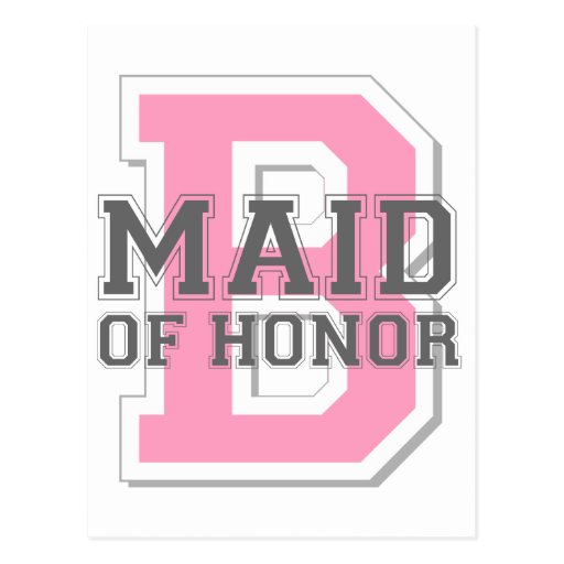 Maid of Honor Cheer Post Cards