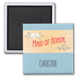 Maid of Honor Citrus and Red Magnet
