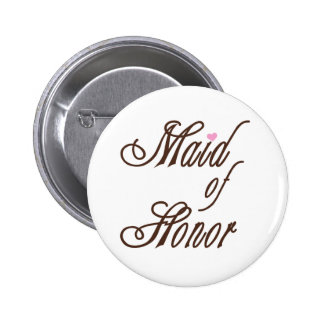 Maid of Honor Classy Browns 2 Inch Round Button
