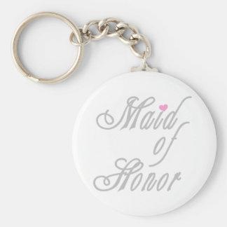 Maid of Honor Classy Grays Keychain