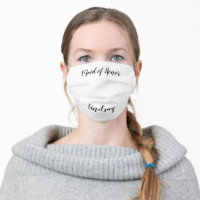 Maid of Honor Cloth Face Mask